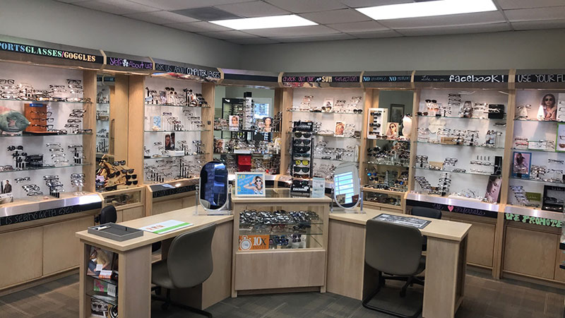 interior of family vision care optometry